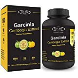 Sinew Nutrition Garcinia Cambogia Extract - (90 Capsules) 1500 mg, 100 % Veg, Pure & Natural Weight Management & Appetite Suppressant Supplement