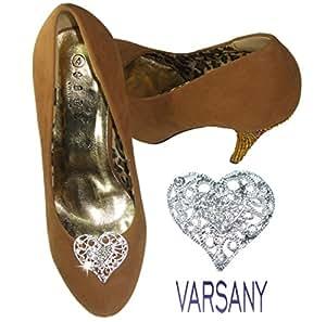 Cœur Chaussures à clipser Bling Cristal