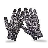 Alle Hauptfinger Touchscreen-Handschuhe, graue Wollhandschuhe für iPhone, Samsung, iTouch-Handschuh für den Winter.