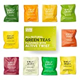 #5: Only Leaf Green Tea Sampler Box with 10 Flavored Varieties (Pack of 30 Teabags)