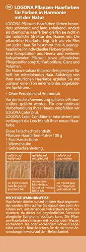 LOGONA Naturkosmetik Coloration Pflanzenhaarfarbe, Pulver - 020 Sahara - Rotblond, Natürliche & pflegende Haarfärbung (100g) - 3