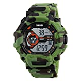 SKMEI Boys Watches Digital Sports Wristwatches Outdoor Military Style with Alarm LED Waterproof