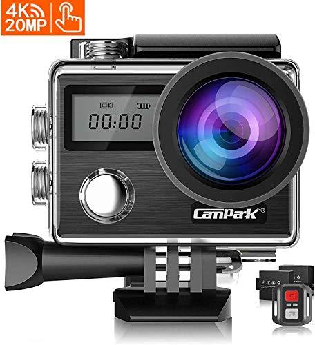 Campark X20 Action Cam 4K WiFi 20MP Doppio Schermo LCD EIS Stabilizzazione 40M Impermeabile...