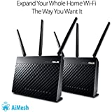 ASUS AiMesh AC1900 Whole Home WiFi System, Dual-band 3x3 With USB 3.0 And AiProtection Powered By Trend Micro (RT-AC68U AiMesh 2 Pack)