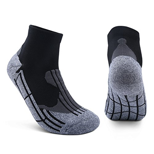 AIKER Athletic Socks Moisture Control Arch Support Ankle Sock For Soccer Basketball Hiking