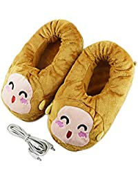 Eastlion USB Plush Foot Warmer Electric Heated Shoes Heating Slippers