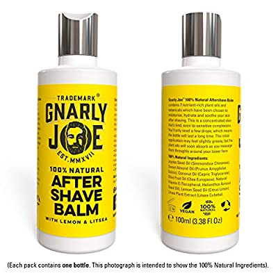 Gnarly Joe Mens After Shave Balm. 100% Natural Ingredients. Soothing and Moisturising Plant Oils and Botanicals, with Lemon and Litsea (100 ml) by Gnarly Joe