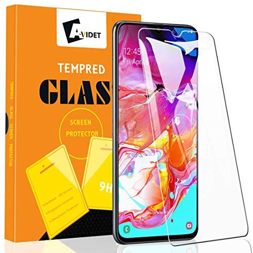 A-VIDET [3 Stück Schutzfolie für Samsung Galaxy A70 Vollschutz-mit Ultra-Stärke Ultra-klare Transparenz Panzerglas Bildschirmfolie für Samsung Galaxy A70