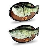 Singender und Tanzender Fisch mit Kühlschrankmagnet LACH MAL WIEDER, singing and dancing fish Wohnambiente Deko