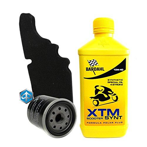Kit tagliando Bardahl XTM 10W40 filtro olio aria originale 82635R 843194