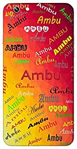 Ambu (Popular Girl Name) Name & Sign Printed All over customize & Personalized!! Protective back cover for your Smart Phone : SONY M-2