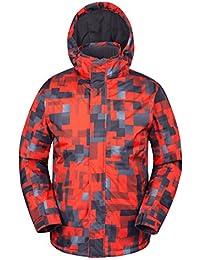 Mountain Warehouse Veste de ski à imprimé Shadow avec capuche pour hommes doublure polaire Hiver