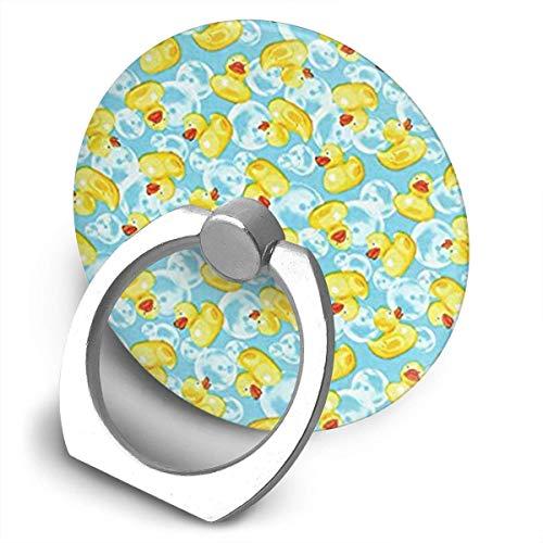 Gummi-Enten Gelbe Halterung, 360 Grad drehbar, Kreative Ringschnalle Klammer, multifunktionale Ringhalterung, Ständer für Universal-Telefone ()