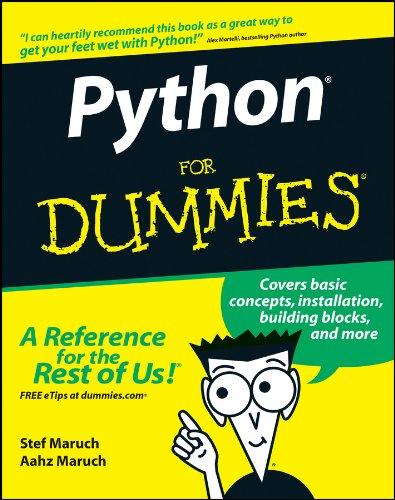 Python For Dummies por Stef Maruch