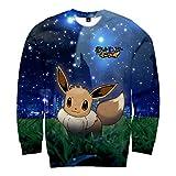CTOOO 2018 Pokemon GO 3D Druck Damen Herren Sweatshirt Paare Pullover Loose Fit XXS-XXXXL