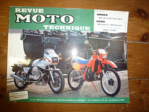 RMT0053 REVUE TECHNIQUE MOTO – HONDA MBX125 FE et FF2 de 1984 à 1986 MTX125 RD, RF et RF2 de 1983 à 1986 MTX 200 RD et RF de 1983 à 1986 MOTO GUZZI 850 LE MANS III-1000 CALIFORNIA III
