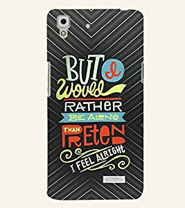 PRINTVISA Quotes Life Case Cover for Oppo R7