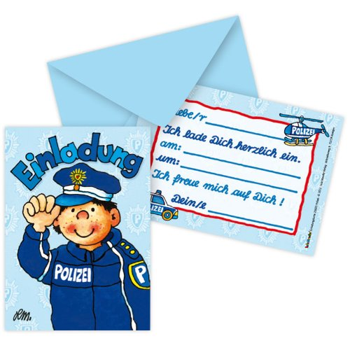 Party Polizei Supplies (Lutz Mauder Lutz mauder25825Police Einladung Karten)