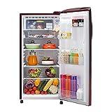 LG 190 L 5 Star Inverter Direct-Cool Single Door Refrigerator (GL-B201ASPY, Scarlet Plumeria)