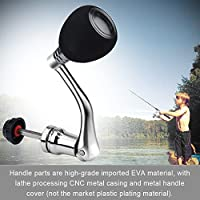 Tbest Metal Rocker Arm Grip Fishing Spinning Reel Handle Grip Reel Replacement Metal Power Handle Grip Part (Silver 4000 & 5000 & 6000)