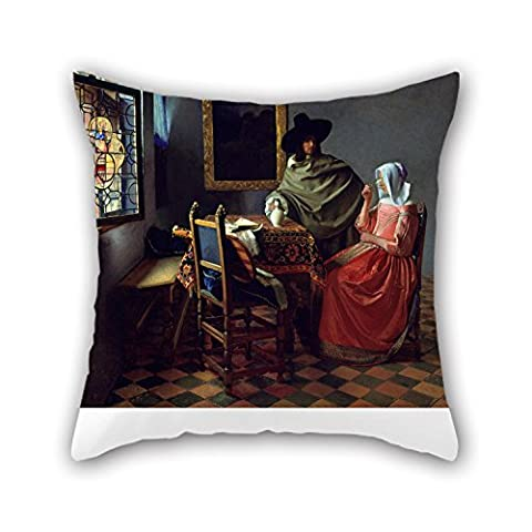 Uloveme Throw Pillow Case 18 X 18 Inches / 45 By 45 Cm(2 Sides) Nice Choice For Wedding,christmas,pub,lounge,teens Boys,girls Oil Painting Jan Vermeer Van Delft - The Glass Of Wine