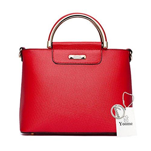 Sacchetti eleganti della borsa della borsa della borsa della borsa della borsa delle borse della borsa delle donne di Yoome per le ragazze delle frizioni delle donne per le ragazze - colore rosso Rosso