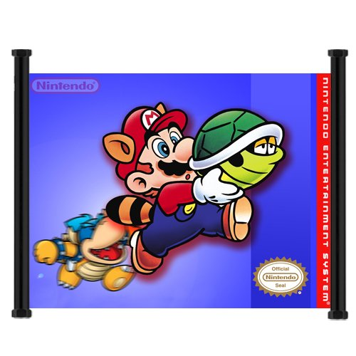 Super Mario Bros 3 Game Fabric Wall Scroll Poster (21x16) Inches