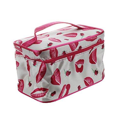 TOOGOO Sac cosmetiques sac de maquillage sacoche de toilette en motif de la levre, rose