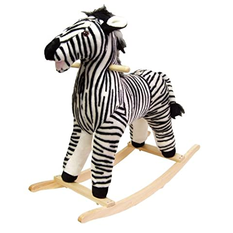 Happy Trails Zebra Plush Rocking