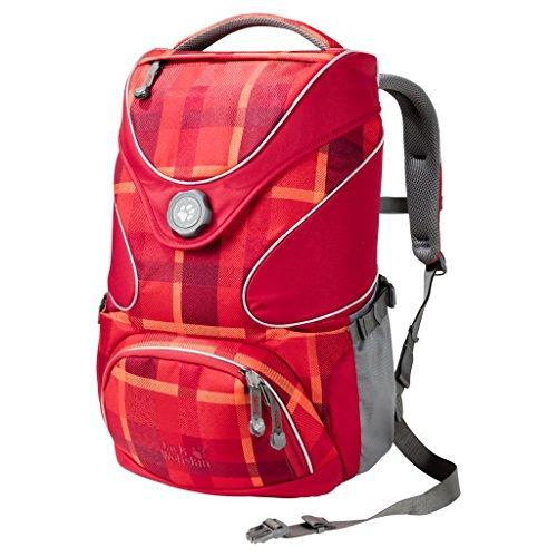 Jack Wolfskin Kids Schulrucksack Ramson Top 20 Pack 7941 indian red woven check