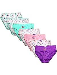 Las niñas suave algodón braguita Slip Multi Pack de 7pares