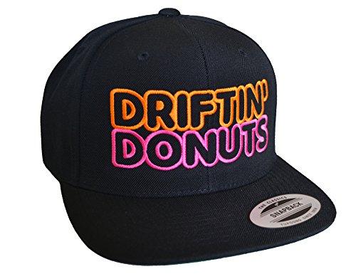 Baddery Petrolhead: Driftin' Donuts - Cap für alle Tuning-, Drift-, und Motorsport Fans - Classic Snapback von Flexfit (one Size)