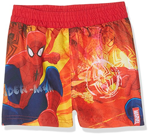 (Marvel Jungen Badeshorts Spiderman, Rot, 7-8 Jahre (Herstellergröße:8 Jahre))