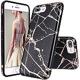 GopeE IPhone 7 Plus Case,iPhone 8 Plus Case, Marble Design Clear Bumper TPU Soft Case Rubber Silicone Skin Cover For IPhone 7 Plus (2016)/iPhone 8 Plus (2017) - B07H1GZFMY