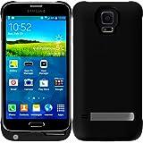 ® -Samsung Galaxy S5 Vanda Coque avec batterie externe de secours haute capacité (3200 mAh)-Étui Power Pack et batterie Housse (noir)