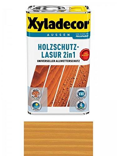 Xyladecor Holzschutzlasur 2in1 Aussen, 5 Liter, Farbton Walnuss