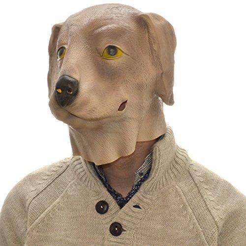 Overhead Dog Full Head lattice di gomma maschera Fancy Dress Halloween party Accessory