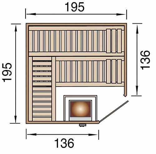 weka Design-Sauna KEMI Eck 1 GT, Sparset