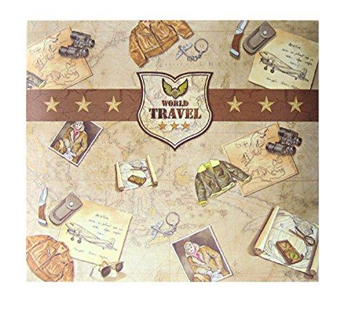 Ursus 71000007 - Scrapbook Album Travel, ca. 30,5 x 30,5 cm, mit 10 Schutzhüllen, erweiterbar