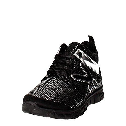 Snappy 408.30 Sneakers Mädchen Schwarz/Silber