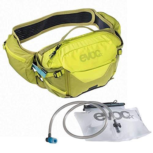 EVOC Sports GmbH HIP Pack PRO 3l + 1, 5l Bladder Hüfttasche, Sulphur/Moss Green, one Size