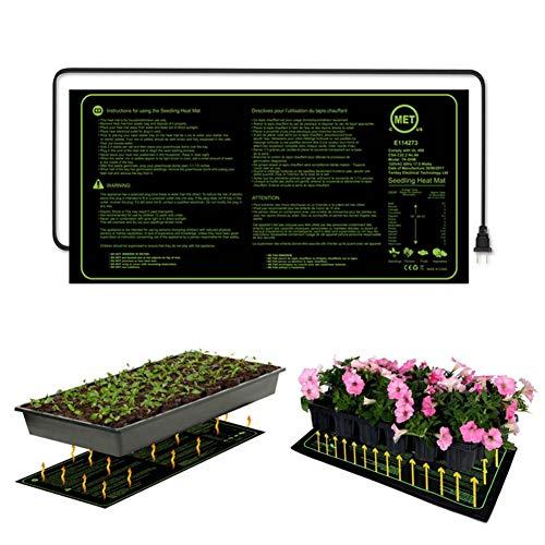 Balai Tapis Chauffant pour semis, Coussin Chauffant hydroponique, résistant à l'eau, pour Le clonage et la Propagation des semences par Germination de semences 10\