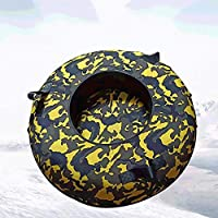 ZHAOK Trineo 80 cm de diámetro Inflatable Snow Tube Snow Tube for Winter Fun Inflatable, for Kids and Adults, Sturdy Sledding Tubes, Easy To Grip Handles,e