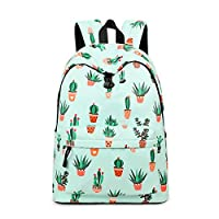 Acmebon Lightweight Fashion School Backpack for Boys and Girls Women Casual Backpack Purse Cactus 626