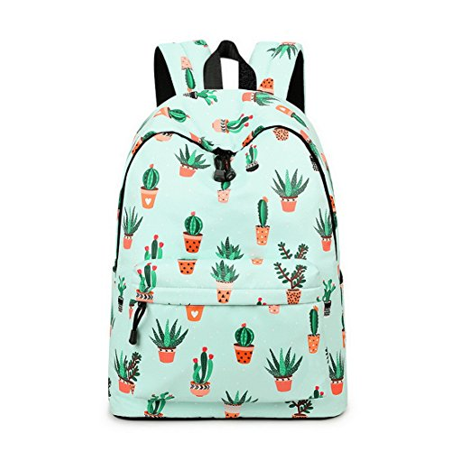 908e8a20cad9 Acmebon Lightweight Fashion School Backpack for Boys and Girls Women Casual  Backpack Purse Cactus 626