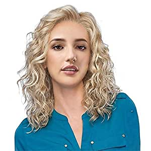Bywigs Kurz Curly Blond Haar Perücken Zum Weiß Frau Ombre
