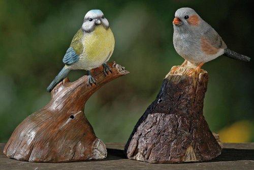 Bewegungsmelder in Form eines Vogels auf einem Ast, sortierte Motive, 1 Stück, ca. 13 cm x 10 cm x 18 cm