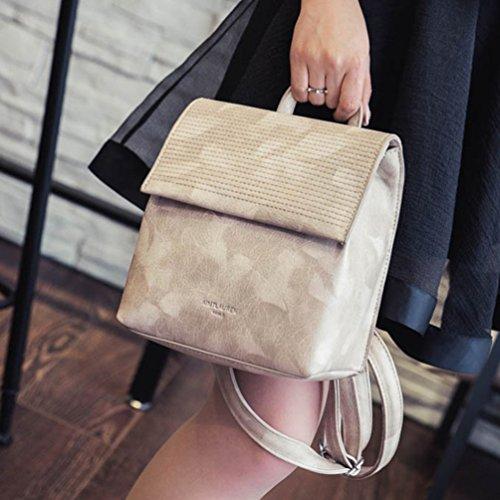 Baymate Damen Freizeit Spiraea Rucksack Vintage Einfache Schule Backpack Aprikose