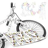 style4Bike Einhorn Aufkleber Bunte Einhörner Unicorn Regenbogen Sticker Fahrradaufkleber