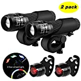 Bike Light Set Blinkle Cycling LED Bicycle Light with Zoomable Function 3 Modes
